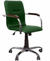 Кресло для руководителя «Самба» (Деревянные накладки на подлокотники)