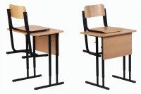 Стол ученический одноместный регулируемый СУО-Р 1-3, 4-6 гр.