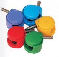 Ролики для кресел разноцветные